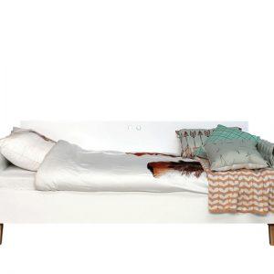 Bedbank Bopita schuine pootjes wit beuken in de wijde wereld