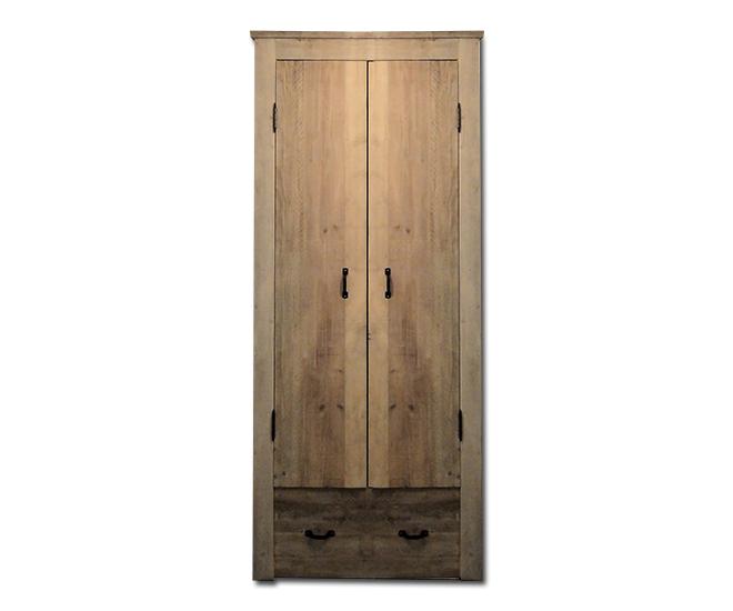 Hoge Smalle Kast : Steigerhouten hoge smalle deurskast met lade van in de wijde wereld