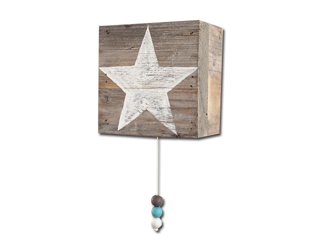 Steigerhouten muziekdoosje met ster