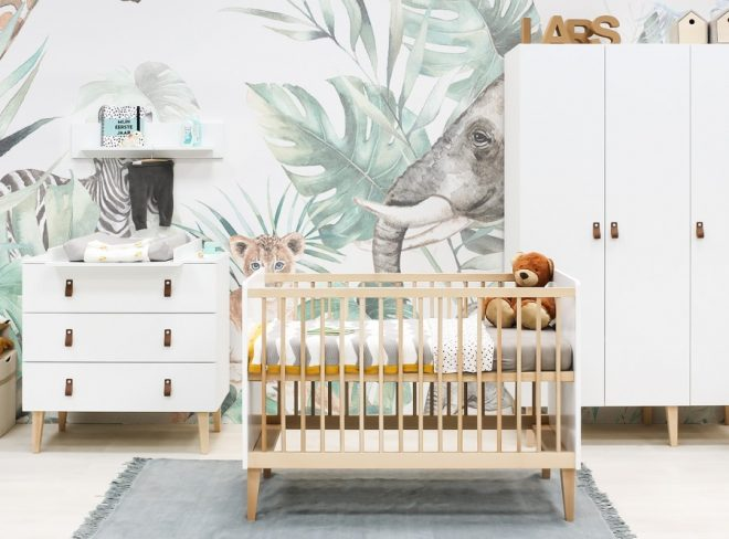 Indy complete babykamer met 3-deurskast