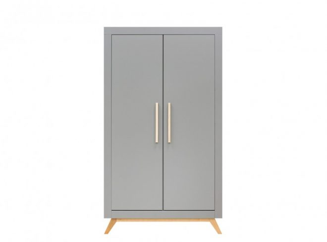 Fenna 2-deurskast grijs