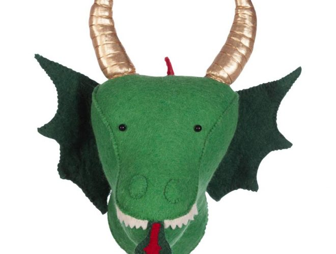 Dierenkop Dragon Green