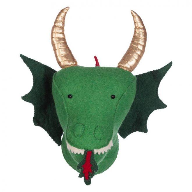 Dierenkop Dragon Green